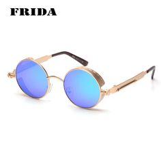 FRIDA 2016 New Fashion Round Sunglasses Women Men Brand Designer Steampunk Vintage Metal Carving Eyewear oculos de sol //Price: $US $7.49 & Up To 18% Cashback //     #steampunktendencies