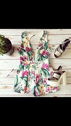 #cute #clothes #summer #love #playsuit #flowers #shoes #womensfashion  Www.bellexo.com