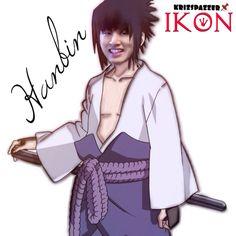 Hanbin as sasuke iKONxNARUTO #fanart #ikon #junhoe #kpop #YG #teamB #naruto #hanbin