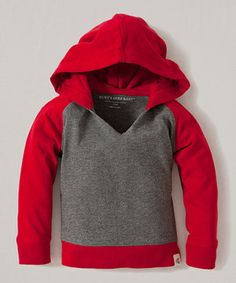 Look what I found on #zulily! Charcoal Heather Color Block Organic Hoodie - Toddler by Burt's Bees Baby #zulilyfinds