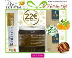 Pure #EssentialOil Try Me Kit  Εξαιρετικό Δώρο για Εσάς & τους Αγαπημένους σας! WWW.ORGANICBRANDS.GR  Το πιο υπέροχο '' #Holiday #Gift '' για εσάς και τους αγαπημένους σας!   To ''Pure #Essential #Oil Try Me Kit'' περιλαμβάνει: 1⃣ Kae'Μαύρο Σαπούνι με Ευκάλυπτο- Black Soap with Eucalyptus 200ml 2⃣ #Kingfisher Natural -Φυσική οδοντόκρεμαΧωρίς Φθόριο 100ml Επιλογή από:Baking Soda,Aloe Tea Tree Mint,Fennel/ Μάραθο 3⃣ Rosveda 100% Αγνό Αιθέριο ΈλαιοΛεβάντα10ml 4⃣ #Rosveda 100% Αγνό…