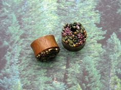 #plugs #wood #forest #floral #flowers #vines #cute #sparkle #nature