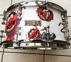 Animal Snare from @rt_customs — #drums #drummers #drumming #thedrummersjournal #customdrums #animal #themuppets