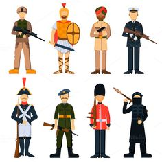 Military soldiers vector @creativework247