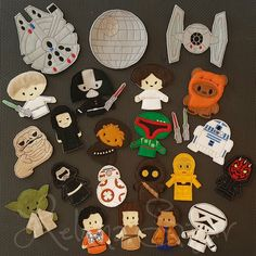 "This set of Star Wars inspired finger puppets is ready to keep your child entertained for hours! These soft toys would be great for a road trip! Each puppet measures approximately 3.5"" tall and is big"