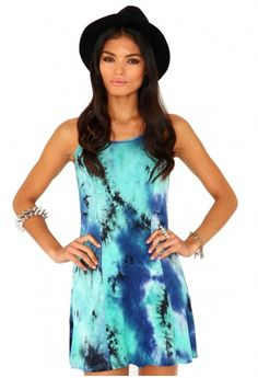 Missguided - Amandi Strappy Tie Dye Swing Dress