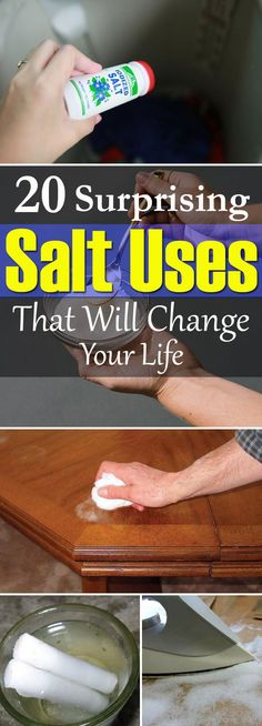 These 20 unusual salt uses for the home can make your life easier and better than before. Must check out!