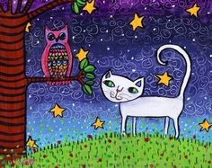 Owl and the Pussycat by AliceinParis on Etsy
