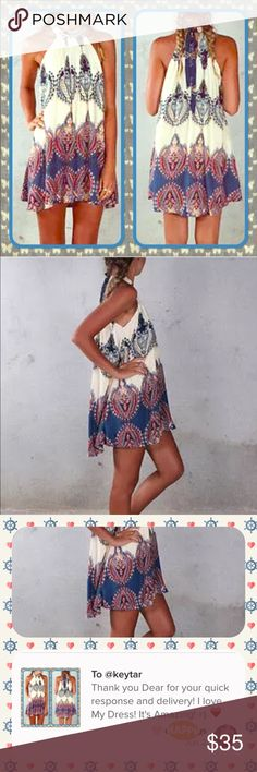 """BACK IN STOCK!Paisley Boho Swing Tie Dress Beautiful and charming boho tie neck back swing dress. Unlined for a light and easy to wear feel. Perfect for the beach or just a warm spring/summer day.   Junior sizing so order up a size.   ⚡️28"""" Long  ⚡️17.5"""" Bust (dress lying flat) ⚡️100% polyester   ❌trades ❌lowballs  offer button   Bundle 2 or more items and save 10%! Dresses"""