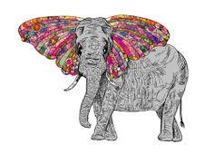 My Paisley World. Elephant. The Art of Bianca Green. http://mypaisleyworld.blogspot.com/