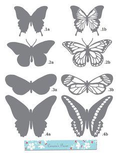 Butterfly Template, Butterfly Art, Crown Template, Butterfly Mobile, Heart Template, Flower Template, Printable Butterfly, Butterfly Pattern, Vintage Butterfly