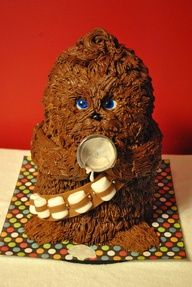 Baby Chewbacca Cake for a Star Wars baby shower doing this for my sister for sure!
