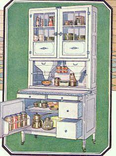 1925 Hoosier kitchen cabinet vintage ad