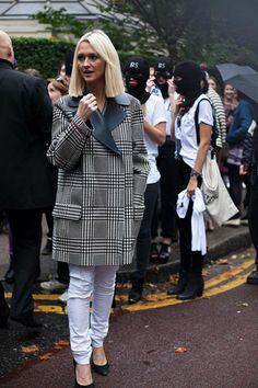 54 street style photos from London Fashion Week #LFW #plaid
