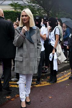 54 street style photos from London Fashion Week #LFW #plaid