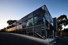 Billard Leece Partnership, Australia, bendigo, La Trobe University Wodonga, student campus, faceted, aluminum mesh, communal space