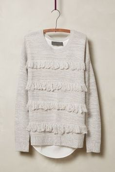 Sunday in Brooklyn Fringed Lyra Pullover #anthrofave