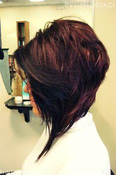 shaggy angle bob hairstyles | ... modne 2013 medium asymmetric hairstyle layered bob bokiem side
