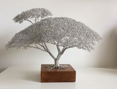 "Learn additional details on ""metal tree wall art decor"". Browse through our website. Metal Tree Wall Art, Metal Art, Bonsai Wire, Art Fil, Wire Tree Sculpture, Wire Trees, Wire Crafts, Wire Art, Metal Walls"