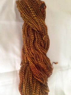 Hand spun and over-dyed yarn on Etsy, $35.00