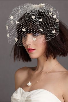 Love-Strewn Blusher in SHOP The Bride Veils & Headpieces at BHLDN