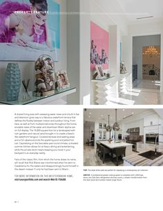 Luxury Portfolio International Magazine Vol. Modern Kitchen Island, Modern Kitchens, Miami Skyline, Luxury Portfolio, Built In Bar, Lush Garden, Islands, Outdoor Living, Photo Wall