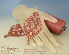 Sissi needle tatting earrings tutorial от Happyland87 на Etsy