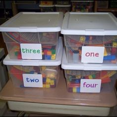CGI Math Tubs - one per table group