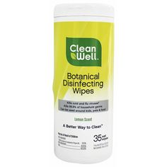 Botanical Disinfecting Wipes Lemon Scent