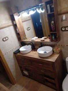 Muebles con palets para el baño – I Love Palets New Homes, Vanity, Love, Bathroom, Diy, Concept, Vanity Tops, Drawers, Home Furniture