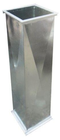 DUCTOS ACERO GALVANIZADO Fabricado en acero galvanizado calibre 20 con angulos en hierro de 1 in