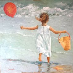 CAREFREE by JOYCE NORWOOD Oil ~ 48 x 48