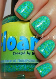 floam! Originally dreamed up by NailVenturous, with a few fun variations like Humblebee, then handed off to Ninja Polish, who has taken the idea of matte glitter and run with it, giving us Girly Floam, Spooky Floam, Festive Floam, Hanukkah Floam, Candy Cane Floam, and others. I love the originality and creativity of this idea. While I, personally, am all about the sparklies, so Floam doesnt really appeal to me, I cant wait to see what else they come up with.