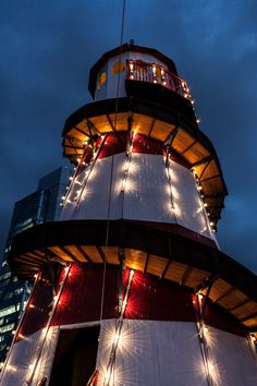 Our Helter Skelter all lit up and looking lovely! #MOOSummerParty