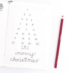 Bullet journal Advent calendar, Christmas tree shaped calendar, Christmas bullet journal theme. @journalandchill