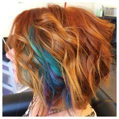 Image Result For Natural Redhead Peekaboo Hair Dye Peekaboo Hair Underlights Hair Teal Hair
