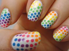 Can't go wrong with rainbow or dots!      Dees Polish Endeavours