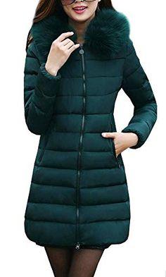 070d7fabe2b3 Magike Manteau Femme Long Veste à Capuche Hoodie Jacket Blouson Slim Parka  Doudoune Automne Hiver Chaud