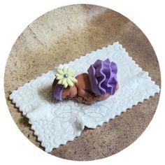 """Fondant baby shower cake topper includes 1 Fondant baby 2 1/2"""" long in fondant skirt. 1 4"""" blankeT FAQ Please read prior to purchase. Thanks! :~) ~PLEASE allow 5-10 business days for your item to be m"""