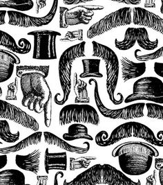 Novelty Quilt Fabric- Victoria Mustaches: novelty quilt fabric: quilting fabric & kits: fabric: Shop | Joann.com