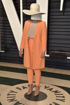 BEVERLY HILLS, CA - FEBRUARY 26: Recording artist Sia attends the 2017 Vanity Fair Oscar Party hosted by Graydon Carter at Wallis Annenberg Center for the Performing Arts on February 26, 2017 in Beverly Hills, California. (Photo by Pascal Le Segretain/Getty Images) via @AOL_Lifestyle Read more: https://www.aol.com/article/entertainment/2017/02/26/vanity-fair-oscars-party-2017-red-carpet-arrivals/21722268/?a_dgi=aolshare_pinterest#fullscreen