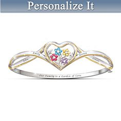 Our Family Is A Garden Of Love Personalized Bracelet