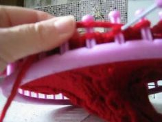 point endroit et envers sur le même rang au tricotin géant