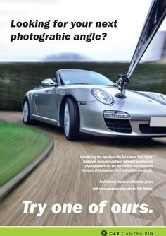 Car Camera Rig is your one stop shop for your Carbon Fibre automotive rig kits and accessories.  A Car Camera Rig is a tool often used in automotive photography that attaches to a vehicle, this allows you to photograph a motion shot taken by a Dslr camera on the end of the rig