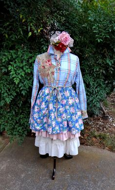 Romantic Cowgirl Mori Girl Altered Couture by BerthaLouiseDesigns
