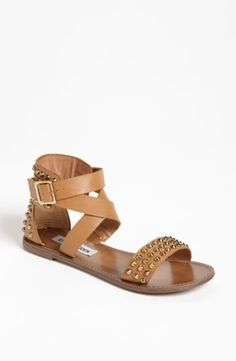 Conical studs spike a smooth sandal with extra edge. Color(s): black, natural. Brand: Steve Madden. Style Name: Steve Madden 'Buddies' Sandal. Style Number: 624522. $$46.86 by nordstrom