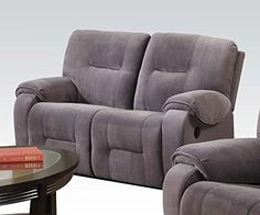1PerfectChoice Villa Light Gray Champlon Reclining Loveseat * Check out the image by visiting the link.