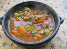 Albion Cooks: Sweet Potato Soup with African Spices, Sweet Potato Leaves & Chickpeas (Vegan)