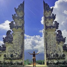 Bucket list: Stand between the Pura Lempuyang in Indonesia. It seriously looks like a door to the heavens.