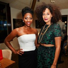 Natural Hair Power Duo: Tracee Ellis Ross and Teyonah Parris at Curly Charity Event http://www.blackhairinformation.com/general-articles/natural-hair-power-duo-tracee-ellis-ross-teyonah-parris-curly-charity-event/